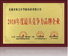2018年度具竞争力品牌企业